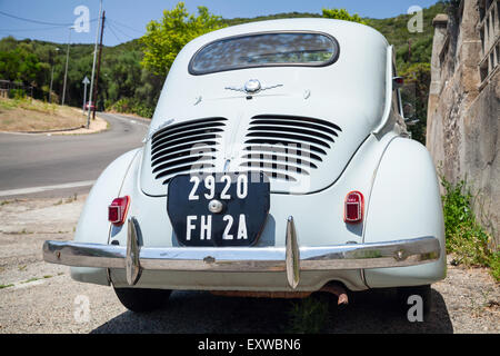 blue 50s oldtimer car in the city center of havana centro habana stock photo royalty free. Black Bedroom Furniture Sets. Home Design Ideas