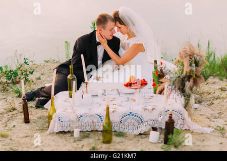 Evening picnic wedding